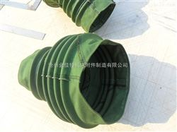 加工高密度绿色帆布伸缩软连接