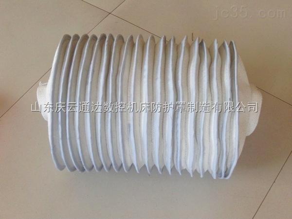 石棉布缝制伸缩防护罩,石棉布伸缩软连接,高温伸缩防护罩