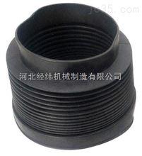 按客戶要求黑色橡膠布自動伸縮絲杠防護罩