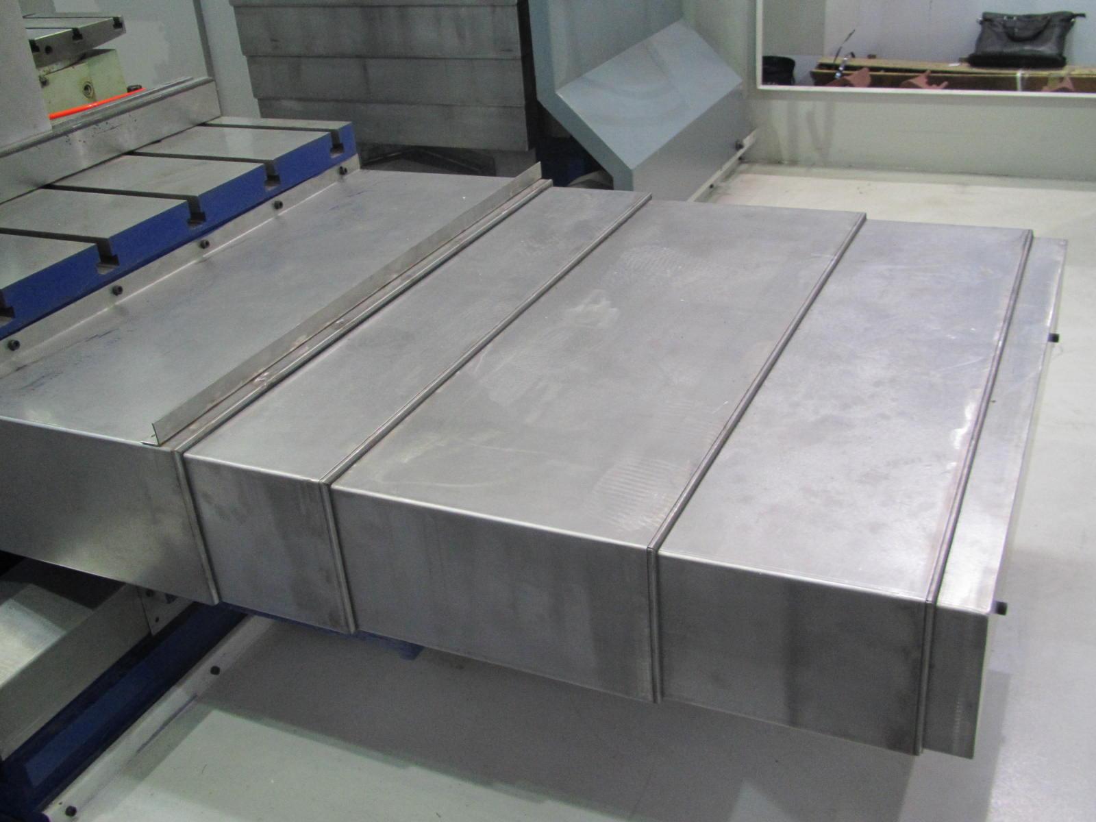 余姚四轴联动钢板式防护罩产品图